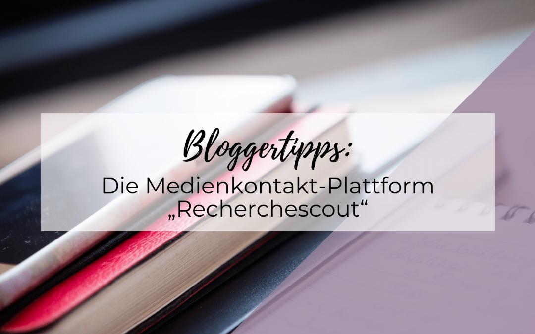 """Die Medienkontakt-Plattform """"Recherchescout"""""""